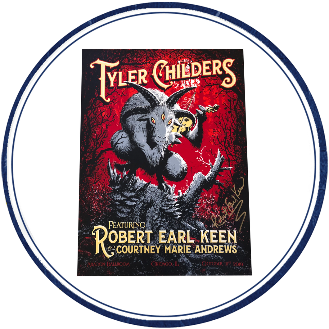 Tyler Childers & REK Halloween 2019 Concert Poster (Chicago, IL) - Signed & Unsigned