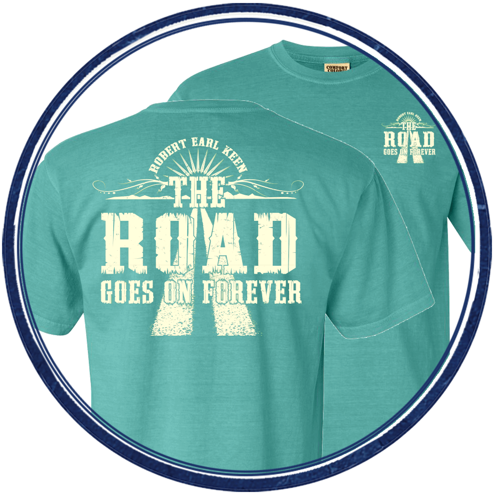 The Road Goes on Forever - Green Tee