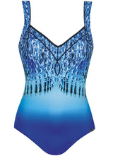 22221 Sunflair Blue Print Diamond Palace Swimsuit
