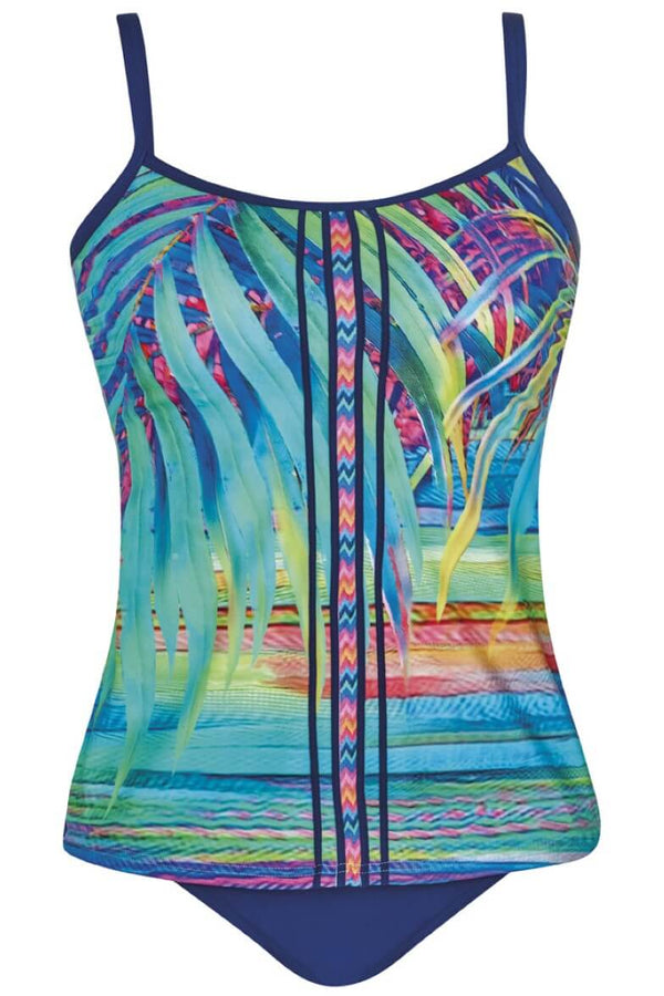28020 Sunflair Tropical Dream Turquoise Print Tankini