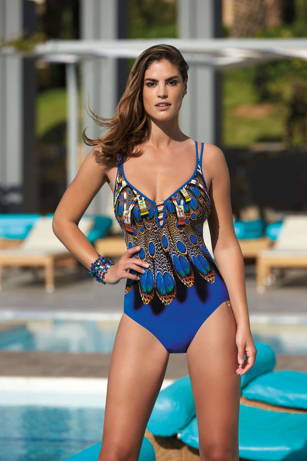 62085 Opera Wild Blue Soft Cup Swimsuit