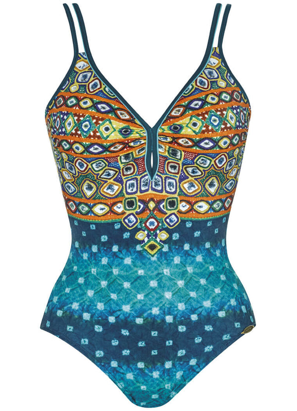 22183 Sunflair Jade Print Ethno Boheme Soft Cup Swimsuit