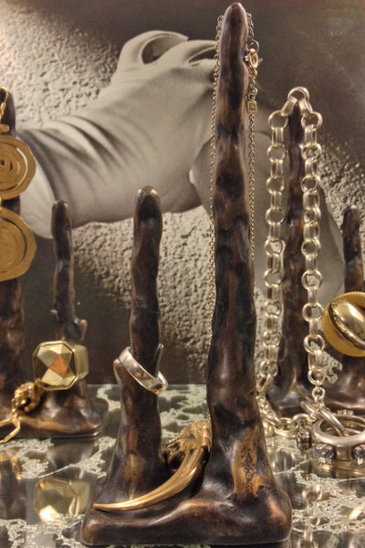 Bronze Stalagmite Table Top Sculpture and Jewelry Display