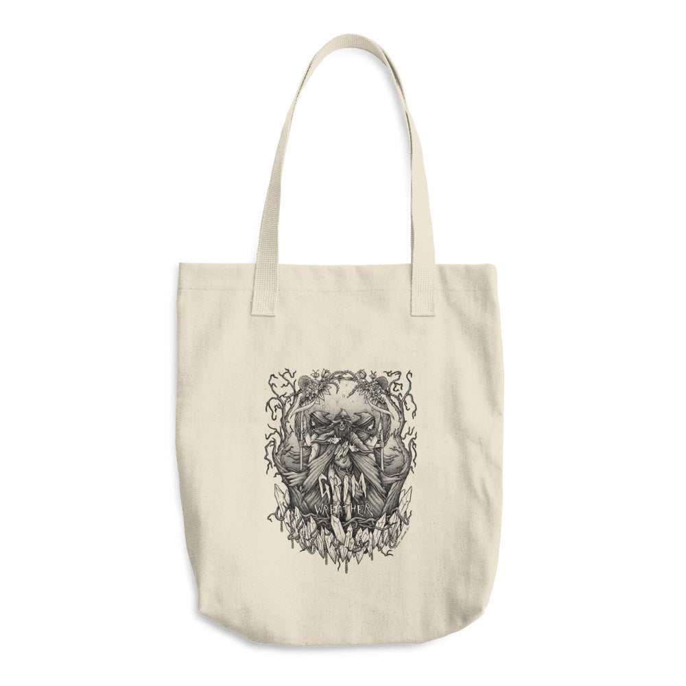 The Grim Wreather by Dicky Irawan Cotton Tote Bag