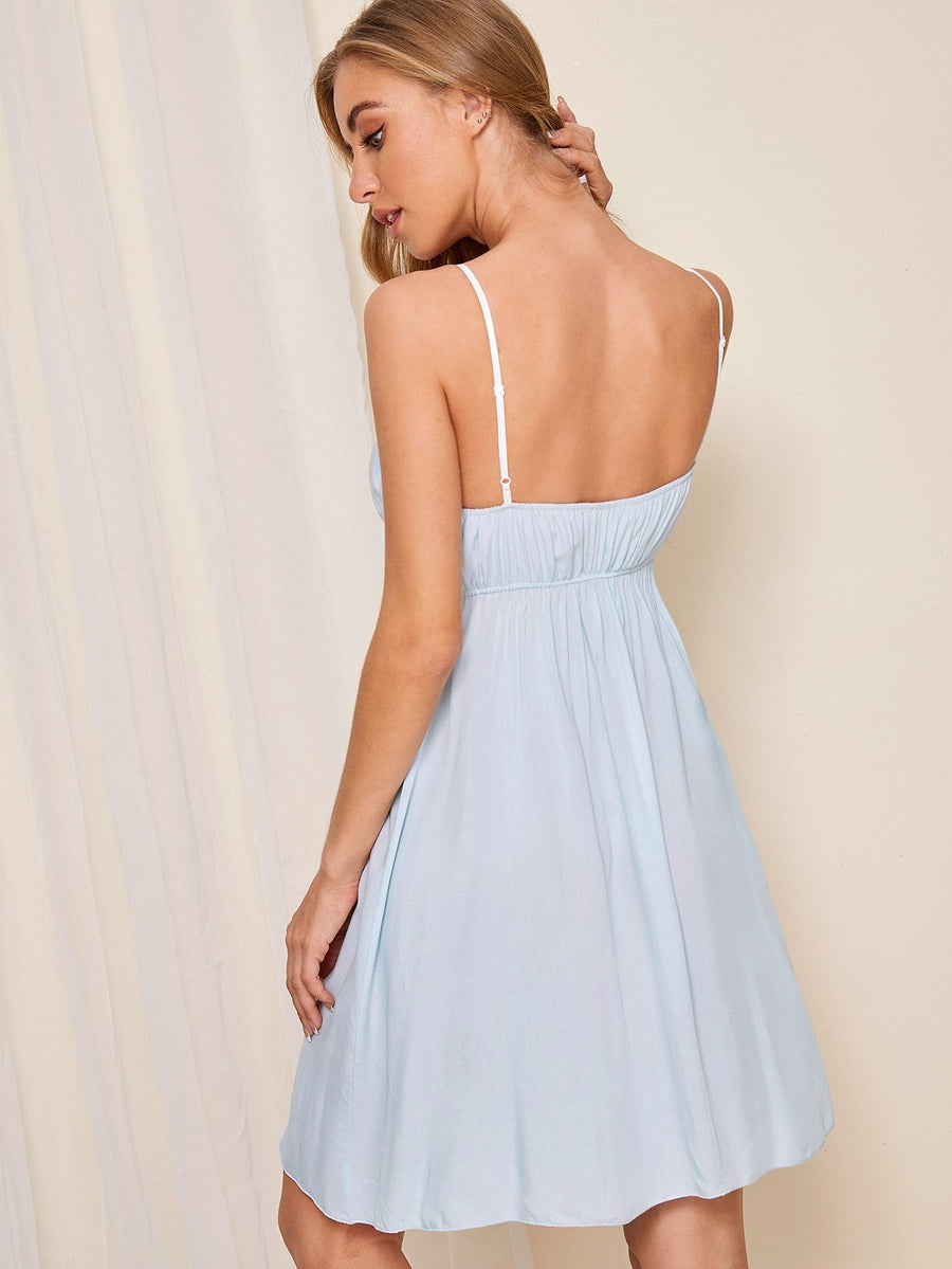 Blu Lace Trim Cami Dress