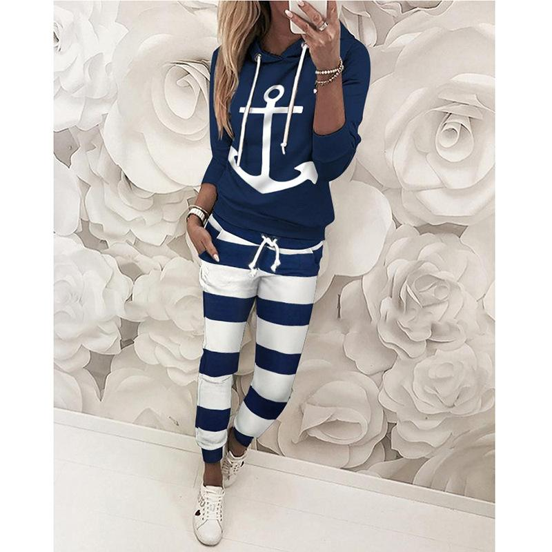 Two Piece Set Sport Suit Hoodie and Matching Sweats