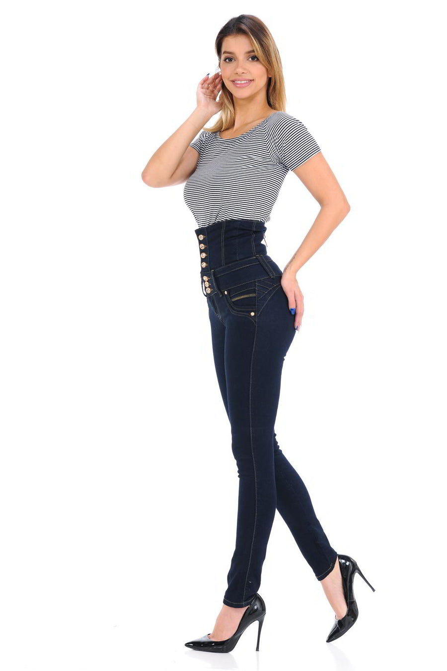 High Waist Levanta Cola Push Up Jeans