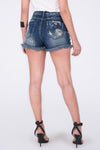 DESTROYED DENIM SHORTS SUPER HIGH WAIST