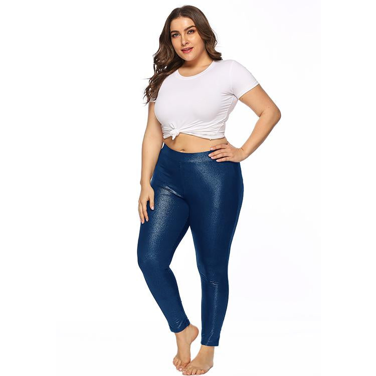 Curvy Women's Sparkling Slim Fit leggings