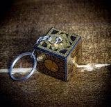 "Keychain - Lament Configuration - Mini Box 3"" total length (includes chain and keyring)"