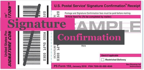 Signature Confirmation: Add-on for any order