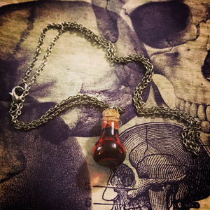 Bloody Vial necklace with chain