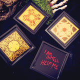 Hellraiser drink coasters