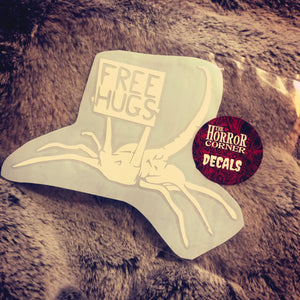 Free Hugs car window decal