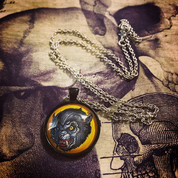 Howl at the Moon Pendant Necklace
