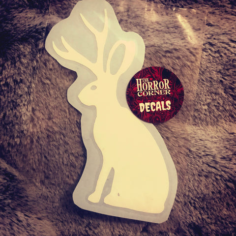 Jackalope car window vinyl decal