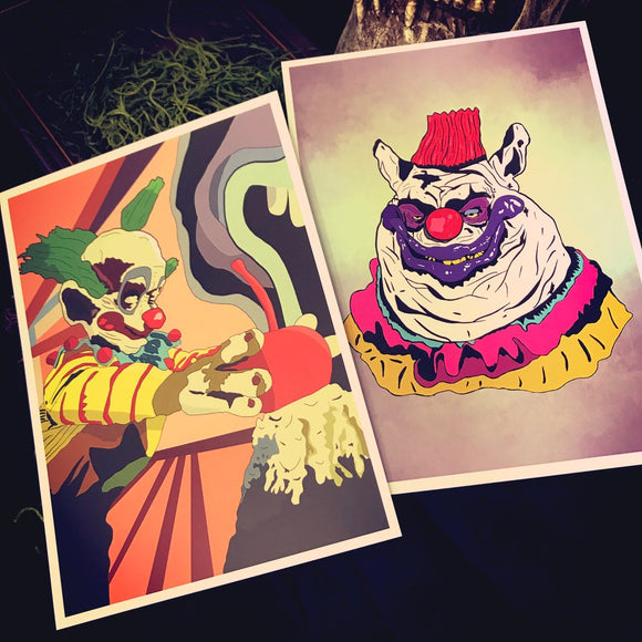 Killer Klown 5x7 art print bundle & individual