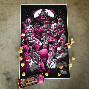 Killer Klowns Attack 11x17 poster