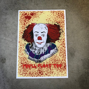"Pennywise 5""x7"" art print"