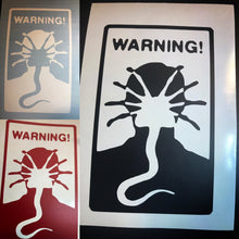 Load image into Gallery viewer, Warning Facehuggers car window decal