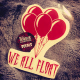We All Float - vinyl car window decal