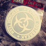 Zombie Outbreak car window decal