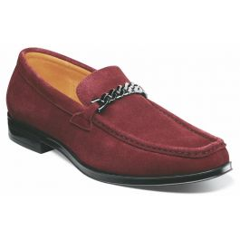 Norwood Moc Toe Slip On Suede Oxblood