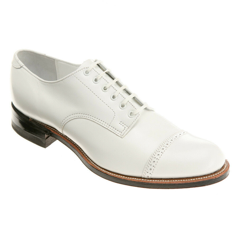Madison Cap Toe OXford Shoe White