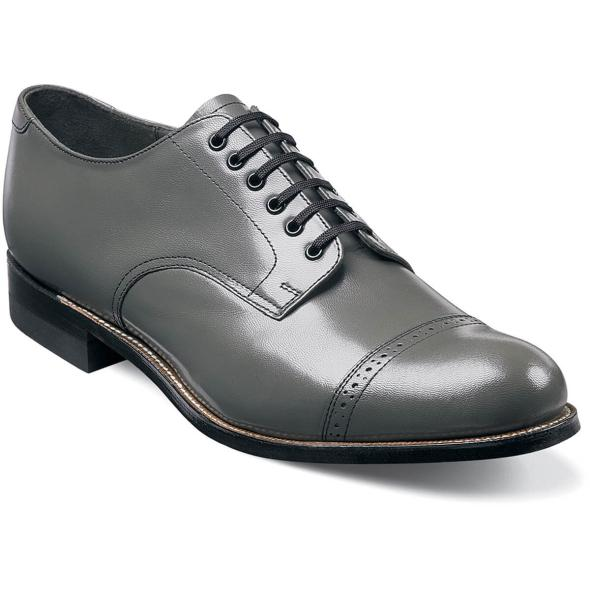 Madison Cap Toe Oxford Shoe  Gray