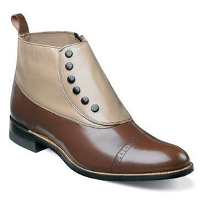 Madison Cap Toe Demi Boots Shoes Brown/Taupe