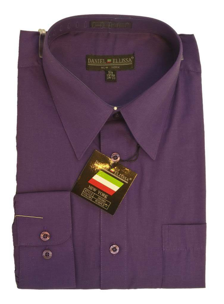 Basic Dress Shirt PURPLE