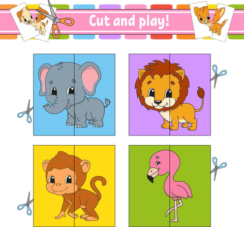 Cut & Match Animal Cards (4802899247240)