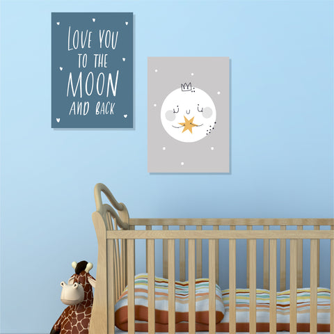 Copy of Love You To The Moon (Boy) (Slimline Canvas Prints) (4803853516936)