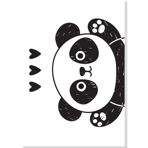 Panda Love (Slimline Canvas Prints) (4803940253832)