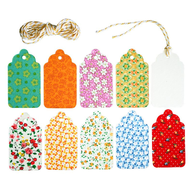 Fabric & Paper Tag<br>Set of 10