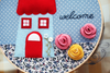 WELCOME - Blue House<br>Wall Artwork 10""