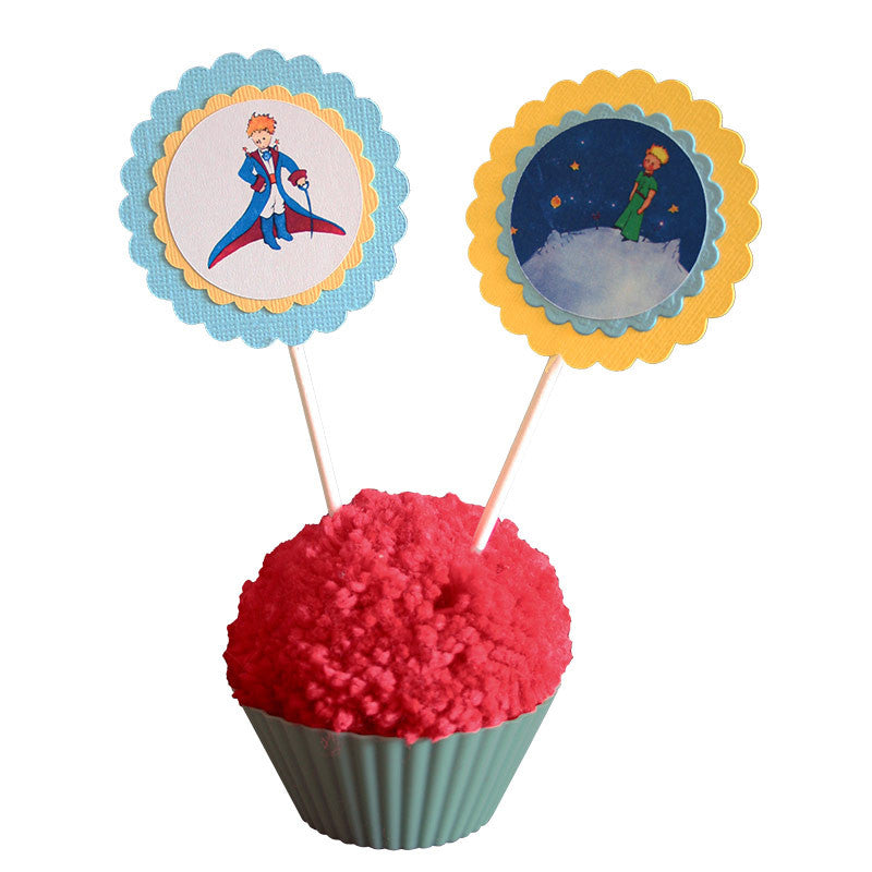 Little Prince Paper Toppers<br>Set of 12