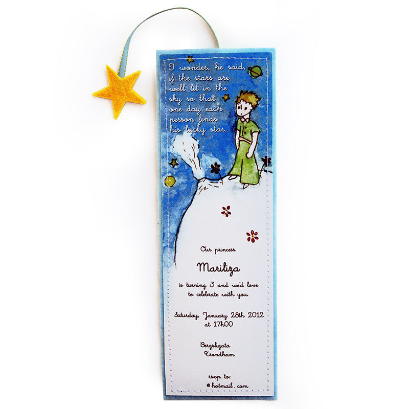 Little Prince Paper/Felt Invitation