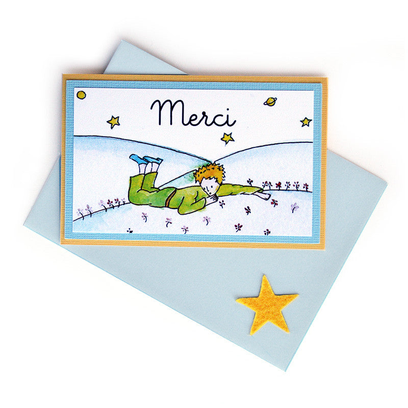 Little Prince Thank You Notes <br>Folded Card - Set of 8