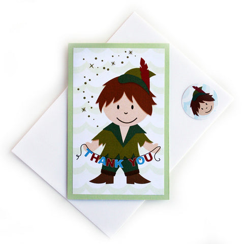 Peter Pan Thank You Notes<br>Folded Card - Set of 8