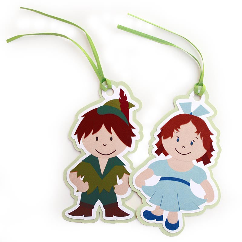 Peter Pan Paper Tags<br>Set of 7