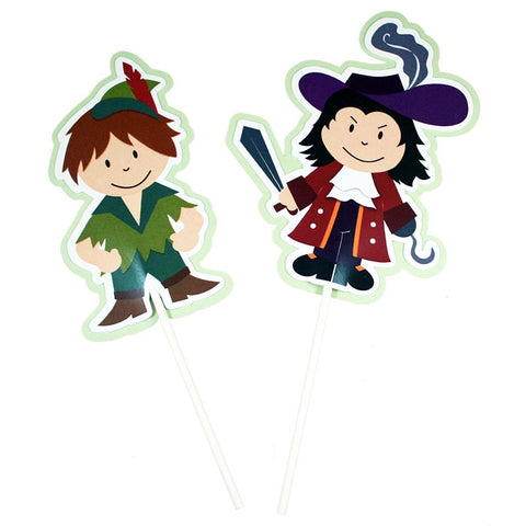 Peter Pan Party Toppers<br>Set of 7