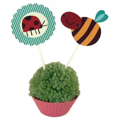 Garden Party Paper Toppers<br>Set of 12