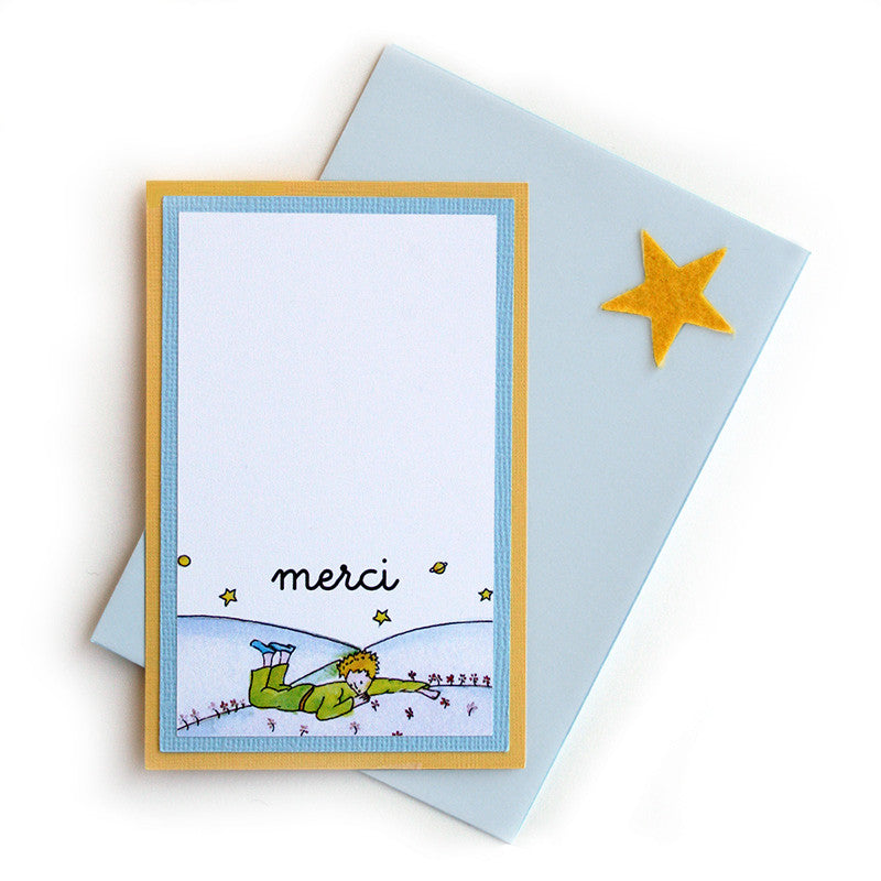 Little Prince Thank You Notes <br>Single Card - Set of 8