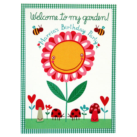 Garden Party Invitation<br>Set of 8