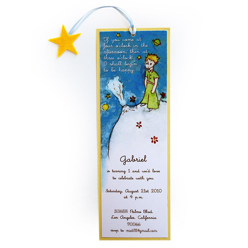 Little Prince Paper Invitation