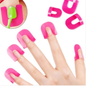 26 pcs Set of Reusable Nail Polish Guides