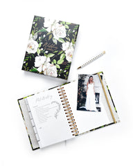 Wedding Planner with Gift Box | Black & Flowers