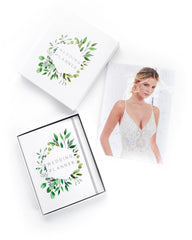 Wedding Planner with Gift Box | White & Leaves