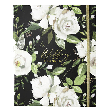 Wedding Planner with Gift Box | Black & Flowers - Simply Wedding Planners